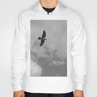 crow Hoodies featuring crow by habish