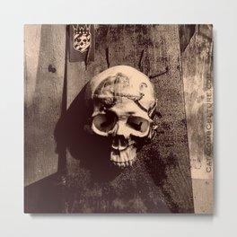 Catacomb Culture - Skull and Paint Metal Print