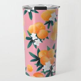 Orange Twist Flower Vibes #4 #tropical #fruit #decor #art #society6 Travel Mug