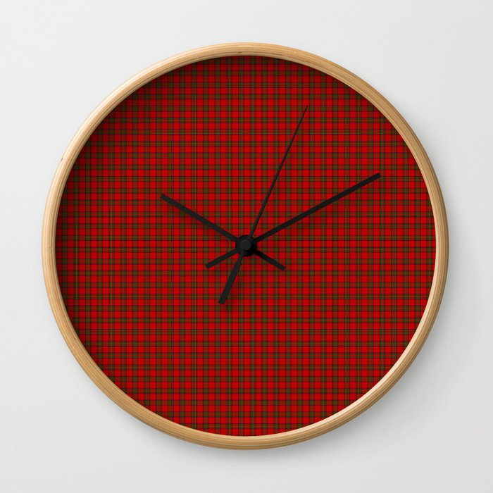 Clan Stewart Tartan Wall Clock