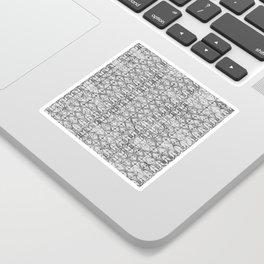 Art Deco Tiles in Grey Sticker