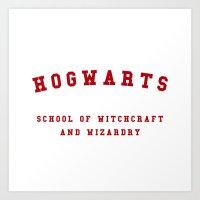 hogwarts Art Prints featuring Hogwarts by Fabian Bross