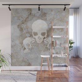 Marble Skulls Wall Mural