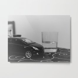 little driver and it's tiny ocean, toys landscape, urban toys Metal Print