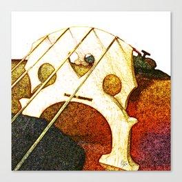 Just a Cello Bridge Canvas Print