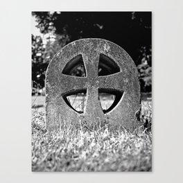 Teutonic  gravestone Canvas Print