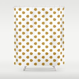 Yellow flowers on white Shower Curtain