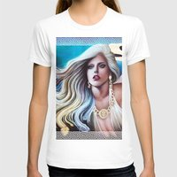 versace T-shirts featuring VERSACE GODDESS by CARLOSGZZ