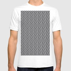 pattern Mens Fitted Tee White MEDIUM