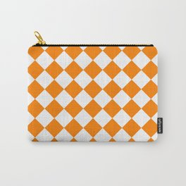Diamonds - White and Orange Carry-All Pouch