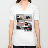 records V-neck T-shirts featuring Records Worth by Zombie Rust