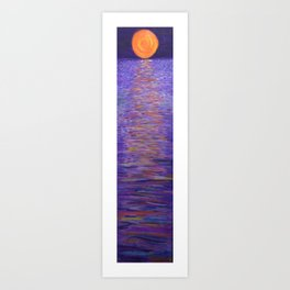 Stairway to the Moon (Oils on Canvas) Art Print
