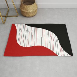Lines and waves Rug