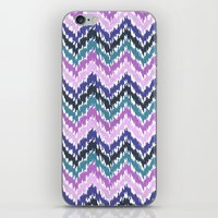 ikat iPhone & iPod Skins featuring Ikat Chevron by Noonday Design