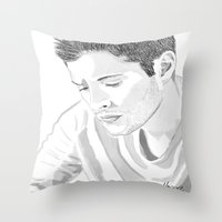winchester Throw Pillows featuring Dean Winchester by Nasher67671