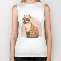 nan lawson Biker Tanks featuring Hip Cat by Nan Lawson