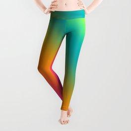 Fruity Coloured Blended Stripes Leggings