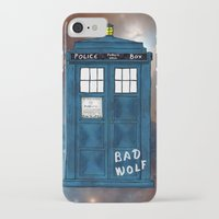 tardis iPhone & iPod Cases featuring Tardis  by Kaes
