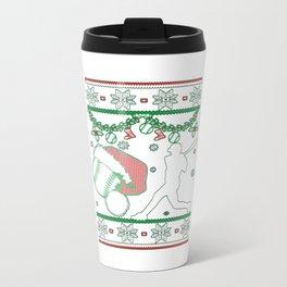 Softball Man Christmas Travel Mug