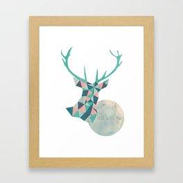 I'd rather be a deer Framed Art Print