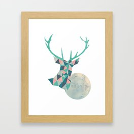 I'd rather be a deer Framed Art Print