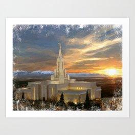 Bountiful Utah LDS Temple Art Print