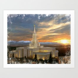 Bountiful Utah LDS Temple Art Print
