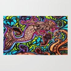 Abstract Mermaid Rug