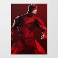 daredevil Canvas Prints featuring Daredevil by tophatmonster