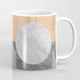 Abstract - Marble and Wood Coffee Mug