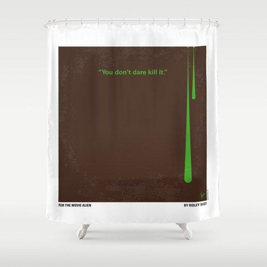 No004 My Alien minimal movie poster Shower Curtain