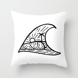 Wave in a Wave Throw Pillow
