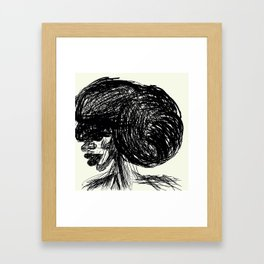 Updo Framed Art Print