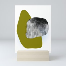 Moss and Bark 1 Mid-Century abstract Mini Art Print