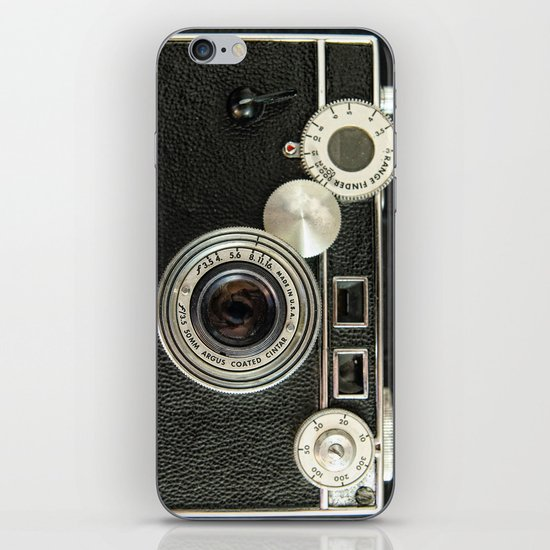 Vintage Range finder camera. iPhone Skin