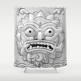 The Angry Sun  Shower Curtain