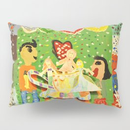 The cup of Rosalia | Full of fairy tales | Painting by Elisavet Pillow Sham