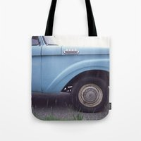 ford Tote Bags featuring ford by auntie loren