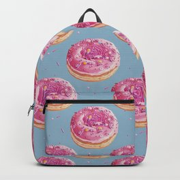 Strawberry Swirl Donut painting Backpack