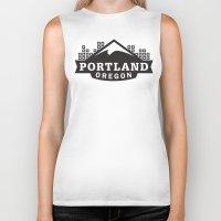 portland Biker Tanks featuring Portland Logo by Corey Price