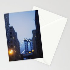 Manhattan Bridge at Night II Stationery Cards