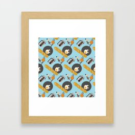 Breakfast Pattern #2 Framed Art Print