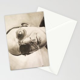 Hunter S. Thompson Portrait in Charcoal Stationery Cards