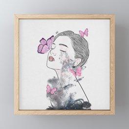 A touch of butterflies. Framed Mini Art Print