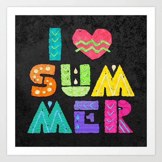 I love summer! Art Print