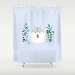 Furball in the garden Shower Curtain