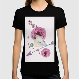 Cute Bird and Dandelion T-shirt