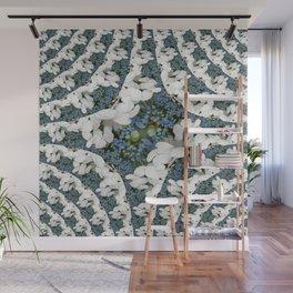 Hydrangeas - White & Blue Floral Wall Mural