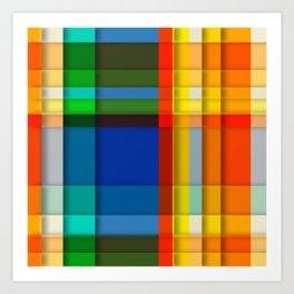 rectangle layers Art Print
