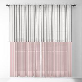 Color Block Lines XIV Sheer Curtain